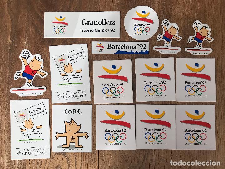 PEGATINAS BARCELONA 92 (Coleccionismo Deportivo - Merchandising y Mascotas - Otros deportes)