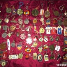 Coleccionismo deportivo: LOTE DE 70 LLAVEROS DEPORTIVOS (FUTBOL, BALONCESTO, ETC). Lote 179311562