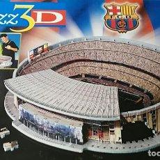 Coleccionismo deportivo: CAMP NOU PUZZLE 3D 682 PIEZAS REFORZADAS CON ESPUMA EN BOLSA PRECINTADA F.C.BARCELONA FCBARÇA. Lote 202036533