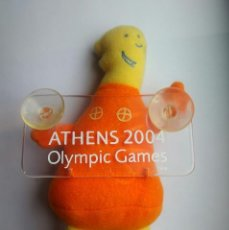 Colecionismo desportivo: MUÑECO JUEGOS OLIMPICOS ATENAS 2004 MASCOTA ATHENÀ Y PHÈVOS OLIMPIADAS ATHENS 2004 OLYMPIC GAMES. Lote 202289680