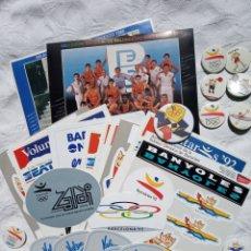 Coleccionismo deportivo: LOTE VARIADO OLIMPÍADAS BARCELONA 92. OLÍMPICO.COBY.PETRA.DEPORTE.MERCHANDAISING.PEGATINAS.CHAPAS. Lote 202399081