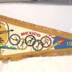 Coleccionismo deportivo: OLIMPIADA MÉXICO 1968 BANDERÍN OFICIAL, BUEN ESTADO. MED. 47 X 18 CM. Lote 203547665