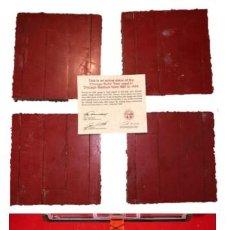 Coleccionismo deportivo: CHICAGO BULLS ( MICHAEL JORDAN ) - 4 PIEZAS DE PARQUET USADO DESDE 1987 HASTA 1993 - CON CERTIFICADO. Lote 204444516