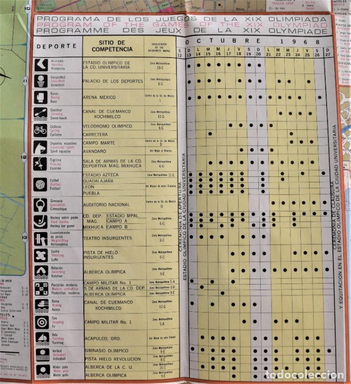 Coleccionismo deportivo: MAPA TURÍSTICO DE CARRETERAS OLIMPIADAS MEXICO 68 - ORIGINAL DE LA ÉPOCA EN MUY BUEN ESTADO - Foto 3 - 205285870