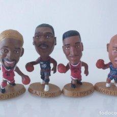Coleccionismo deportivo: FIGURAS NBA, OLAJUWON, PIPPEN, RODMAN Y BARKLEY. Lote 205331615