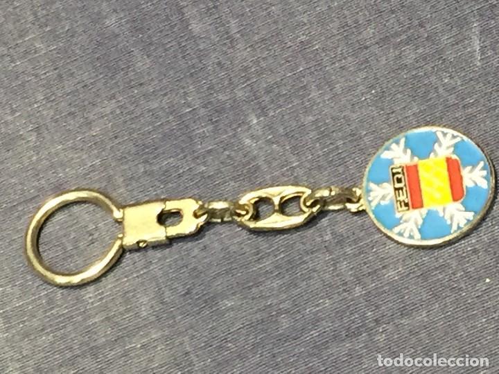LLAVERO ESMALTADO FEDERACION ESPAÑOLA DEPORTES INVIERNO FEDI OLIMPIADAS ESQUI 30MM (Coleccionismo Deportivo - Merchandising y Mascotas - Otros deportes)