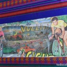 Coleccionismo deportivo: CAJA BLISTER GRANDE VUELTA CICLISTA, MARIANO SOTORRES AÑOS 60 FIGURAS CICLISMO PINTADAS A MANO. RARA. Lote 212185007