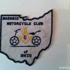 Coleccionismo deportivo: MASONIC MOTORCYCLE CLUB OF OHIO - EMBLEMA EN PANO. Lote 214265933
