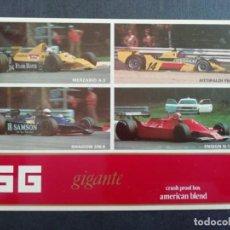 Coleccionismo deportivo: TABACO SG GIGANTE - F1 - STICKER/PEGATINA FROM 80'S-TABAQUEIRA PORTUGAL. Lote 214644007