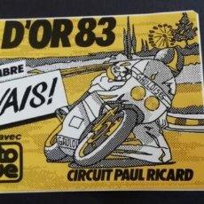 Coleccionismo deportivo: BOL D'OR 83 AVEC MOTO REVUE - CIRCUIT PAUL RICARD STICKER. Lote 214781051