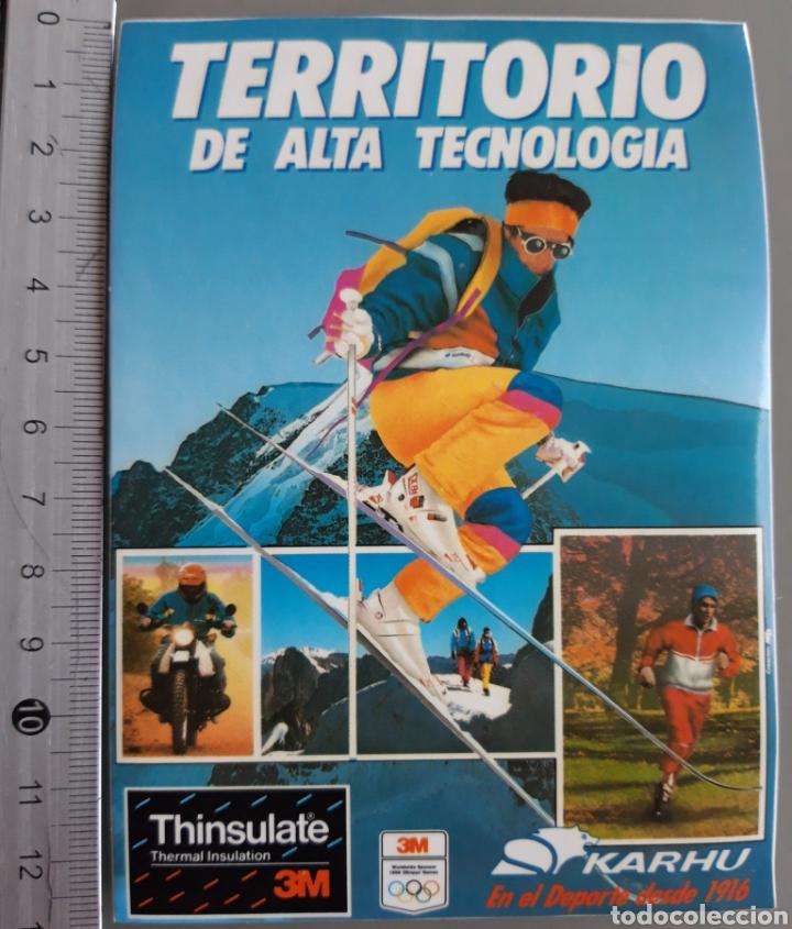 PEGATINA AÑOS 80 DE LA MARCA DEPORTIVA KARHU (Coleccionismo Deportivo - Merchandising y Mascotas - Otros deportes)