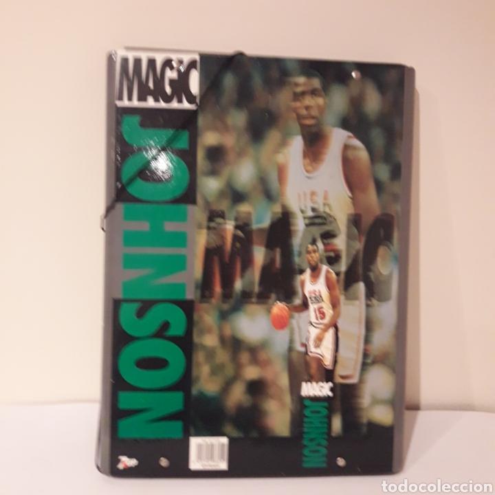 Coleccionismo deportivo: 1992. 7up .Carpeta Magic Johnson. Dream Team. Barcelona 92 Juegos Olímpicos. NBA - Foto 2 - 217055221