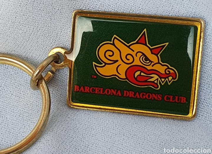 ANTIGUO LLAVERO BARCELONA DRAGONS FUTBOL AMERICANO RUGBY BARÇA AÑOS 90 (Coleccionismo Deportivo - Merchandising y Mascotas - Otros deportes)