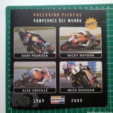 Coleccionismo deportivo: MOTOCICLISMO - 4 IMANES DE CAMPEONES DEL MUNDO - REPSOL - PRIMERA ENTREGA. Lote 221446711