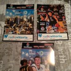 Coleccionismo deportivo: FOLLETOS TAU CERAMICA BASKET. Lote 221976957