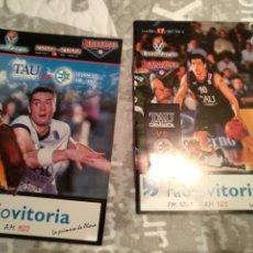 Coleccionismo deportivo: FOLLETOS TAU CERAMICA BASKET. Lote 221976997