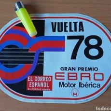 Colecionismo desportivo: VUELTA CICLISTA A ESPAÑA 1978, PEGATINA. Lote 224297910