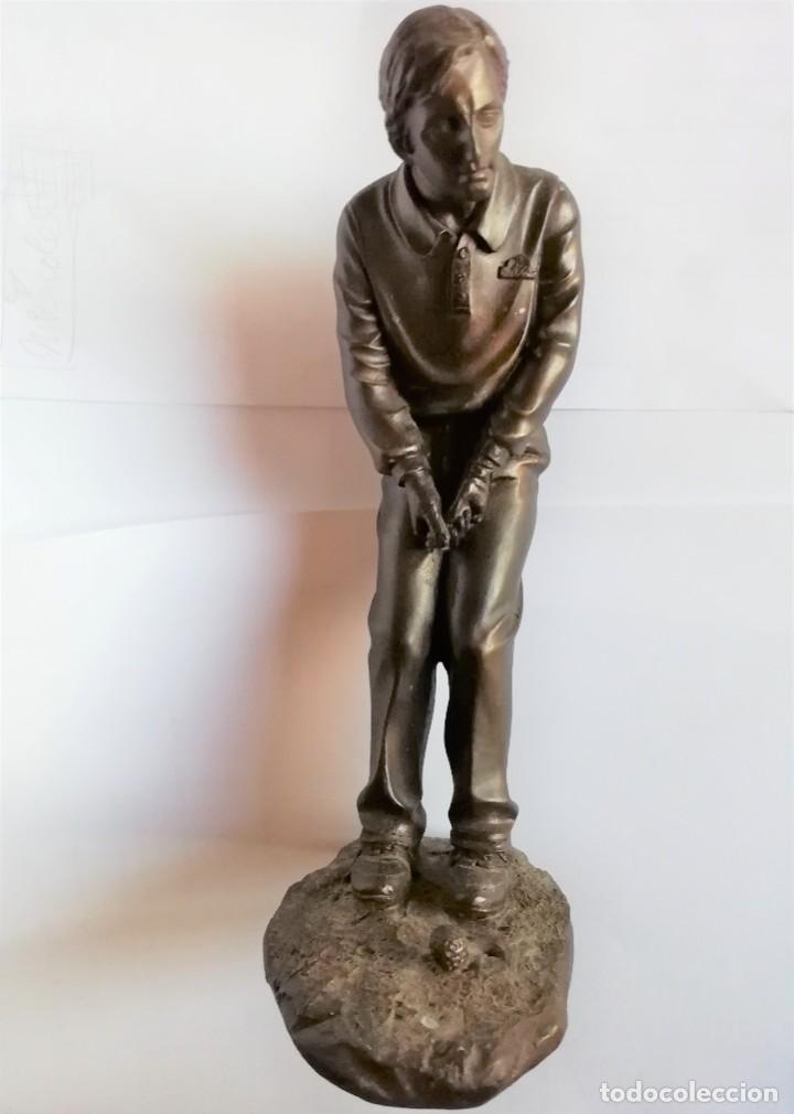 Coleccionismo deportivo: Golfista figura de jugador de golf de resina 19 cm. de altura Está para recoger en Murcia - Foto 4 - 226430561