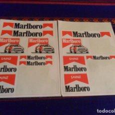 Coleccionismo deportivo: LOTE 13 PEGATINA ADHESIVO MARLBORO CARLOS SAINZ. EQUIPO TOYOTA REPSOL. RALLYE. AÑOS 90. RARAS.. Lote 230918140