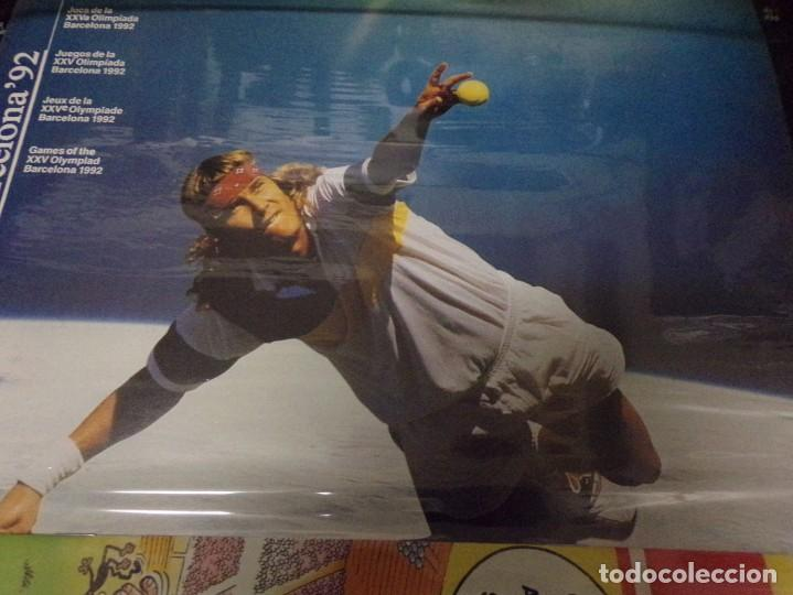 Coleccionismo deportivo: POSTER DE CARTON juegos de la olympiada BARCELONA 92 Precintado Tenis - Foto 2 - 233143810