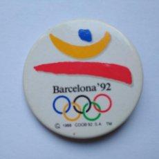 Coleccionismo deportivo: CHAPA LOGO JUEGOS OLÍMPICOS DE BARCELONA '92 TAMAÑO NORMAL 1992. Lote 235296285