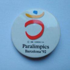 Coleccionismo deportivo: CHAPA LOGO JUEGOS PARALÍMPICOS DE BARCELONA '92 TAMAÑO NORMAL 1992. Lote 235296600