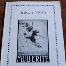 Coleccionismo deportivo: LIBRITO PUBLICITARIO CAZA, CARTOUCHES MULLERITE 1930. Lote 235527660