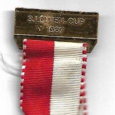 Coleccionismo deportivo: MEDALLA DE JOCKEY DE 1987. Lote 237374340