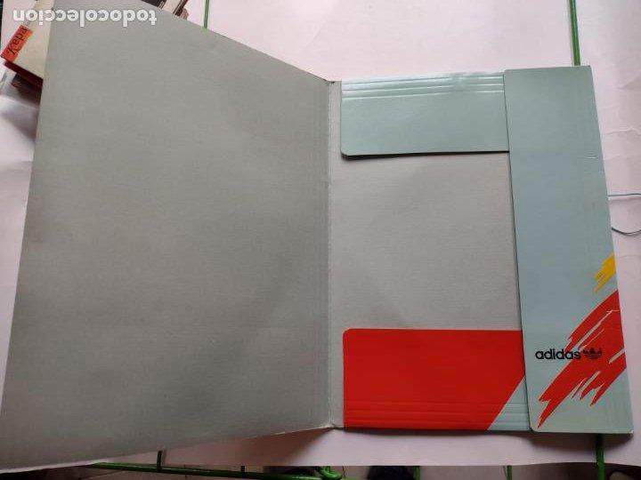 Coleccionismo deportivo: Carpeta A4 Adidas con el tenista Stefan Edberg, años 80. Formato A4-VINTAGE-PAPELERÍA-TENNIS - Foto 3 - 247772135