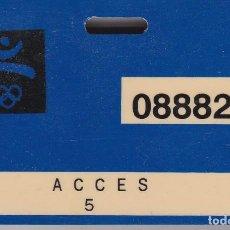 Coleccionismo deportivo: TARJETA ORIGINAL DE ACCESO A LAS OLIMPIADAS DE BARCELONA 92 -ACCES 5 (OLYMPIC GAMES) MUY RARA. Lote 248545720