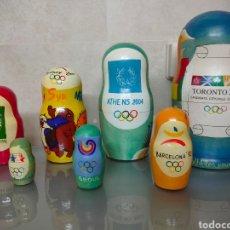 Coleccionismo deportivo: EXCLUSIVA 8X MATRIOSKA JUEGOS OLÍMPICOS CANDIDATURA TORONTO 2008 24CM. Lote 252657105