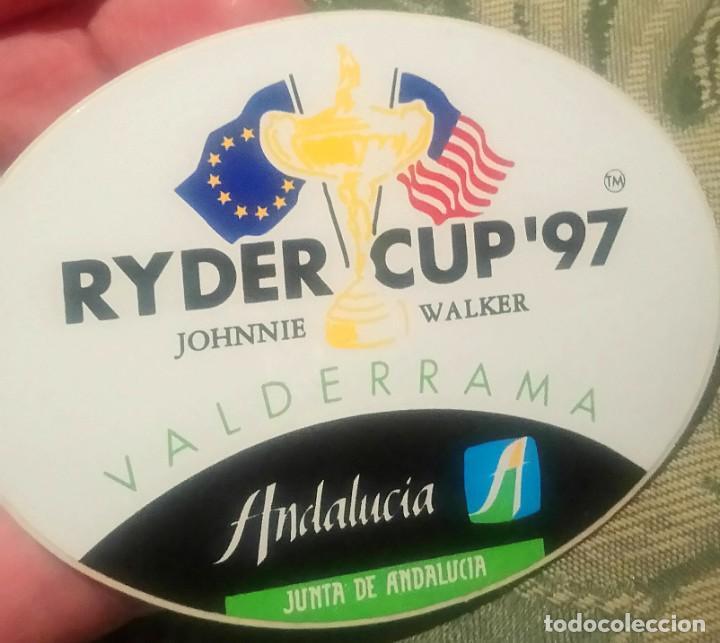 PEGATINA RYDER CUP GOLF VALDERRAMA SOTOGRANDE CÁDIZ 1997 (Coleccionismo Deportivo - Merchandising y Mascotas - Otros deportes)