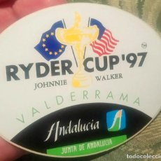 Coleccionismo deportivo: PEGATINA RYDER CUP GOLF VALDERRAMA SOTOGRANDE CÁDIZ 1997. Lote 254092595