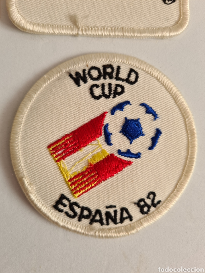 Coleccionismo deportivo: 4 Parches Naranjito Mascota Copa Mundial Fútbol España 82 - World Cup Spain Brasil - Foto 5 - 261627525