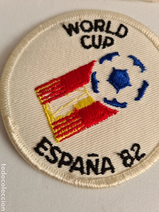 Coleccionismo deportivo: 4 Parches Naranjito Mascota Copa Mundial Fútbol España 82 - World Cup Spain Brasil - Foto 6 - 261627525