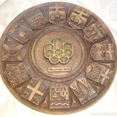Coleccionismo deportivo: PLATO ADORNO DE LOS JUEGOS OLÍMPICOS MONTREAL 1976 CANADÁ. 30CM. 350GR. Lote 274825503