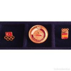 Coleccionismo deportivo: 3 PIN DE LAS OLIMPIADAS BARCELONA 92 DELEGACIONES ESPAÑA - QATAR - TURQUIA OLYMPIC GAMES. Lote 277541263