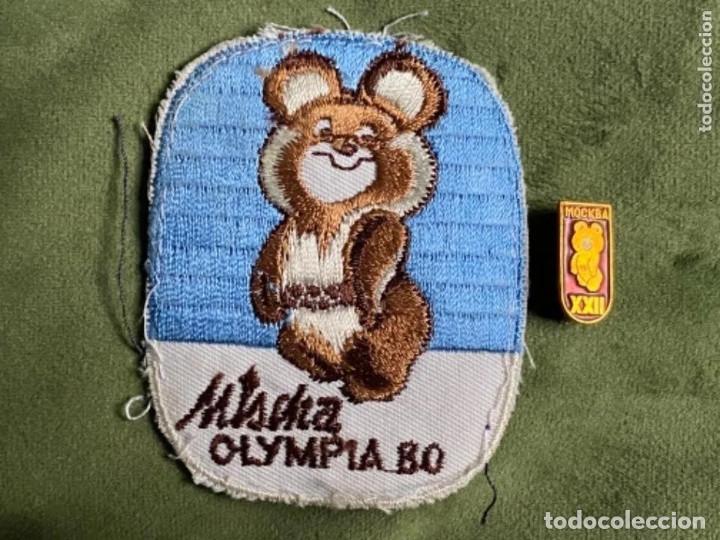 ANTIGUO PARCHE E INSIGNIA ALFILER JUEGOS OLÍMPICOS RUSIA MISCHA OLYMPIA 80 (Coleccionismo Deportivo - Merchandising y Mascotas - Otros deportes)