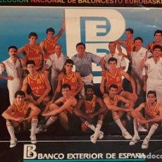 Coleccionismo deportivo: PEGATINA EQUIPO BALONCESTO ESPAÑOL 1987. Lote 294562508