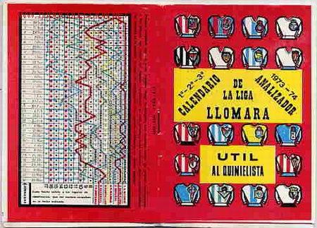 Futbol Calendario.Calendario Futbol Liga 1973 74 Llomara Sold Through Direct Sale