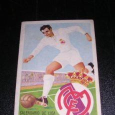 Coleccionismo deportivo: CALENDARIO DE LIGA 1957 - 58, REAL MADRID. Lote 10466658