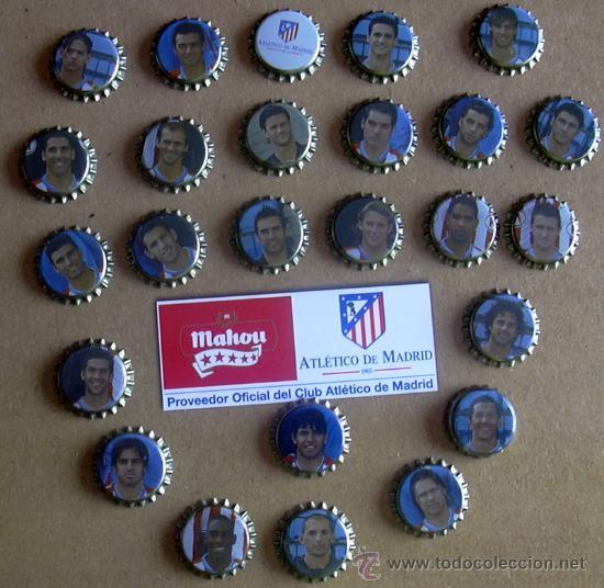 Coleccionismo deportivo: Atlético de Madrid - Chapa, chapas Cerveza Mahou 2007-2008, 07-08 - completo - ver fotos - Foto 4 - 23449619