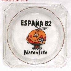 Coleccionismo deportivo: CENICERO CRISTAL MUNDIAL FÚTBOL ESPAÑA 82 NARANJITO 1982. Lote 172619158