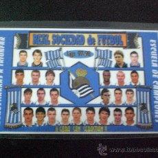 Coleccionismo deportivo: CALENDARIO FUTBOL REAL SOCIEDAD TEMP. 1998 1999 PLASTIFICADO. Lote 12060475