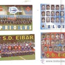 Coleccionismo deportivo: 4 CALENDARIOS BOLSILLO 2001 // S.D. EIBAR - DEPORTIVO ALAVES - REAL SOCIEDAD /// FUTBOL. Lote 21155593