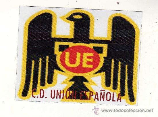 ESCUDO C.D. UNIÓN ESPAÑOLA EN PAPEL MAGNÉTICO. (Coleccionismo Deportivo - Merchandising y Mascotas - Futbol)