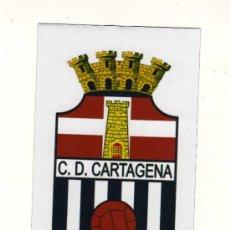 Coleccionismo deportivo: ESCUDO DEL C.D. CARTAGENA EN PAPEL IMANTADO - MEDIDAS:10,5 X 6,5 CM. -. Lote 38964331