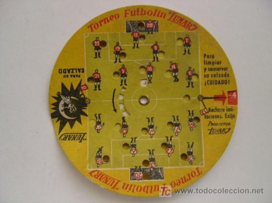 PRECIOSO JUEGO DE FUTBOL - TORNEO FUTBOLIN LUNAR - AÑO 1954 (Coleccionismo Deportivo - Merchandising y Mascotas - Futbol)