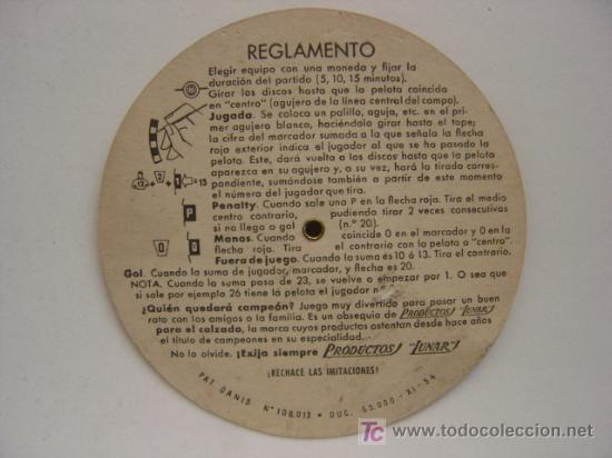 Coleccionismo deportivo: PRECIOSO JUEGO DE FUTBOL - TORNEO FUTBOLIN LUNAR - AÑO 1954 - Foto 4 - 21224390