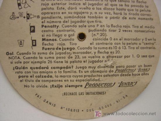 Coleccionismo deportivo: PRECIOSO JUEGO DE FUTBOL - TORNEO FUTBOLIN LUNAR - AÑO 1954 - Foto 6 - 21224390